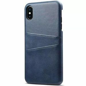Blue iPhone Leather Wallet Case